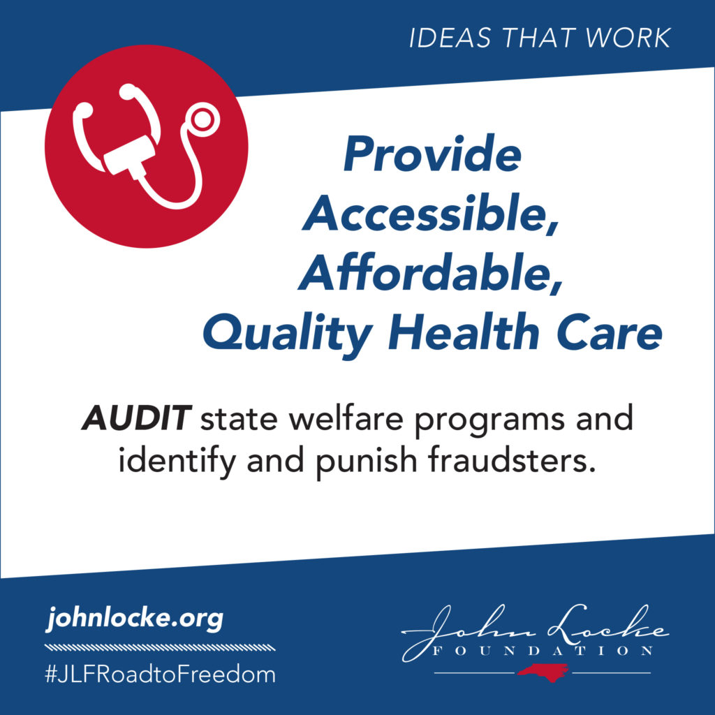 AUDIT state welfare programs and identify and punish fraudsters.