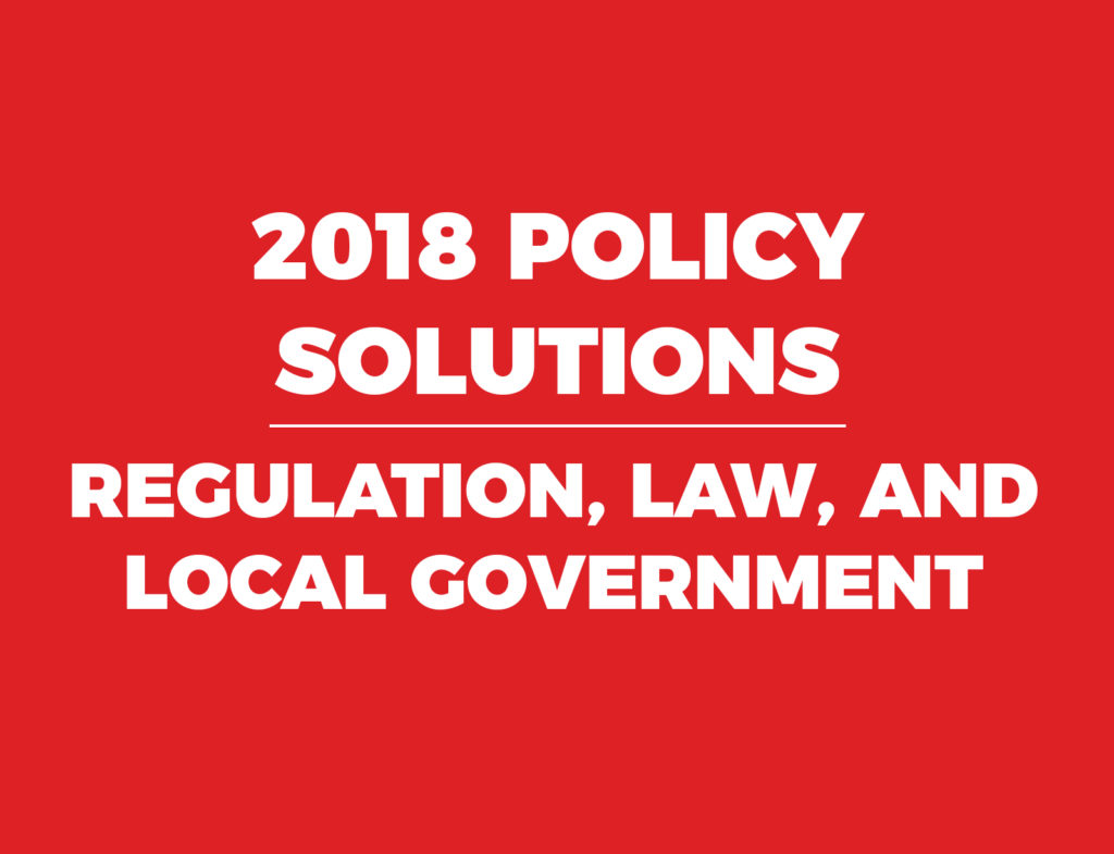 John Locke Foundation 2018 Policy Guide Regulation Law Local Government