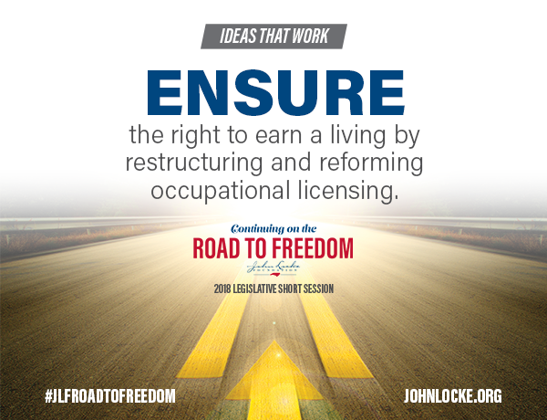Road to Freedom occupational licensing